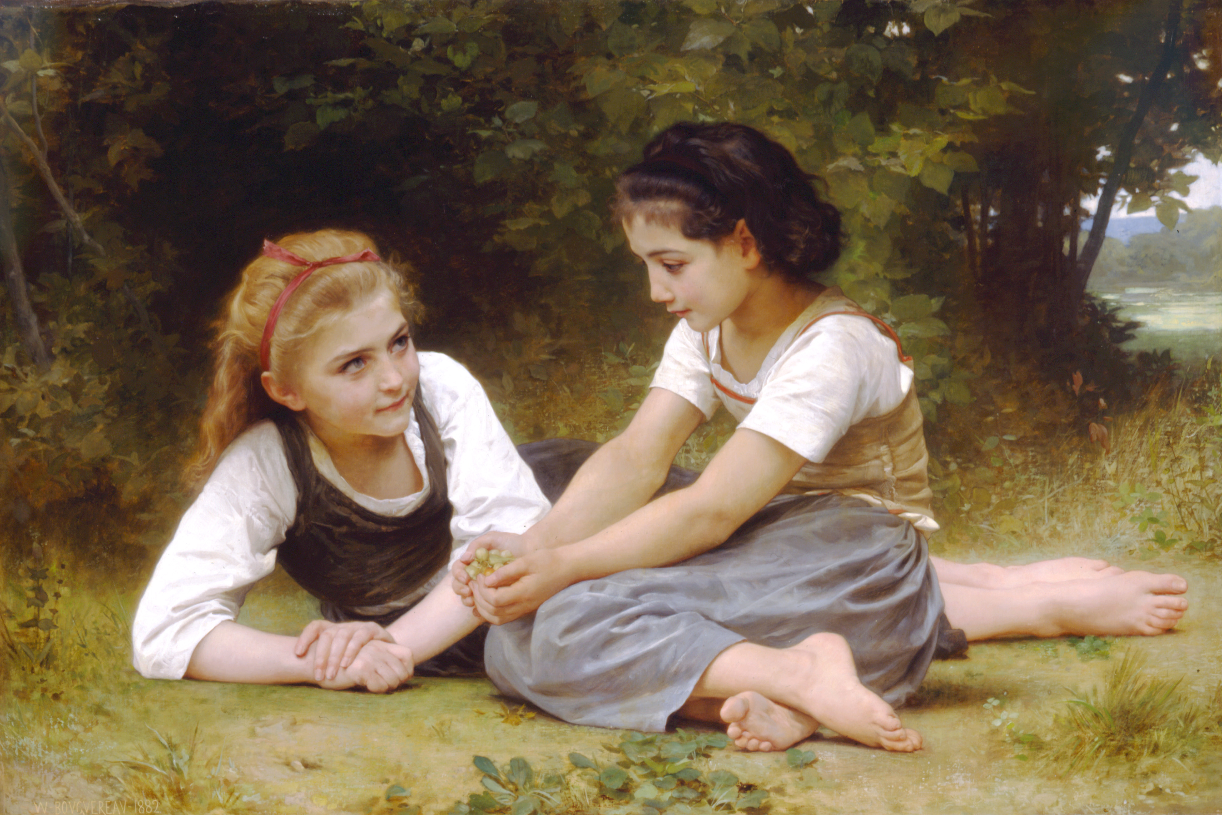 William-Adolphe_Bouguereau_(1825-1905)_-_The_Nut_Gatherers_(1882)