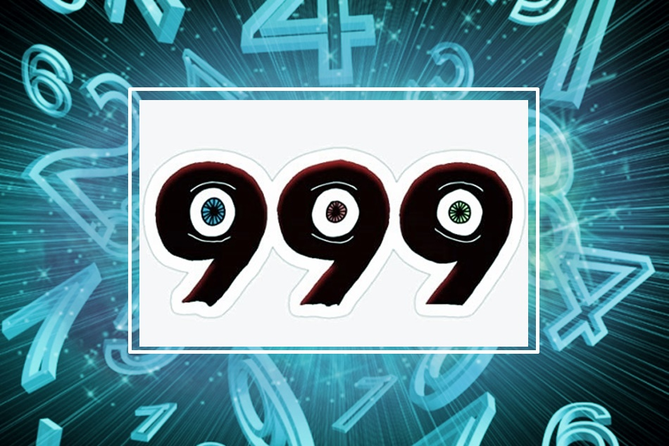 numerology, blue numbers on a black background